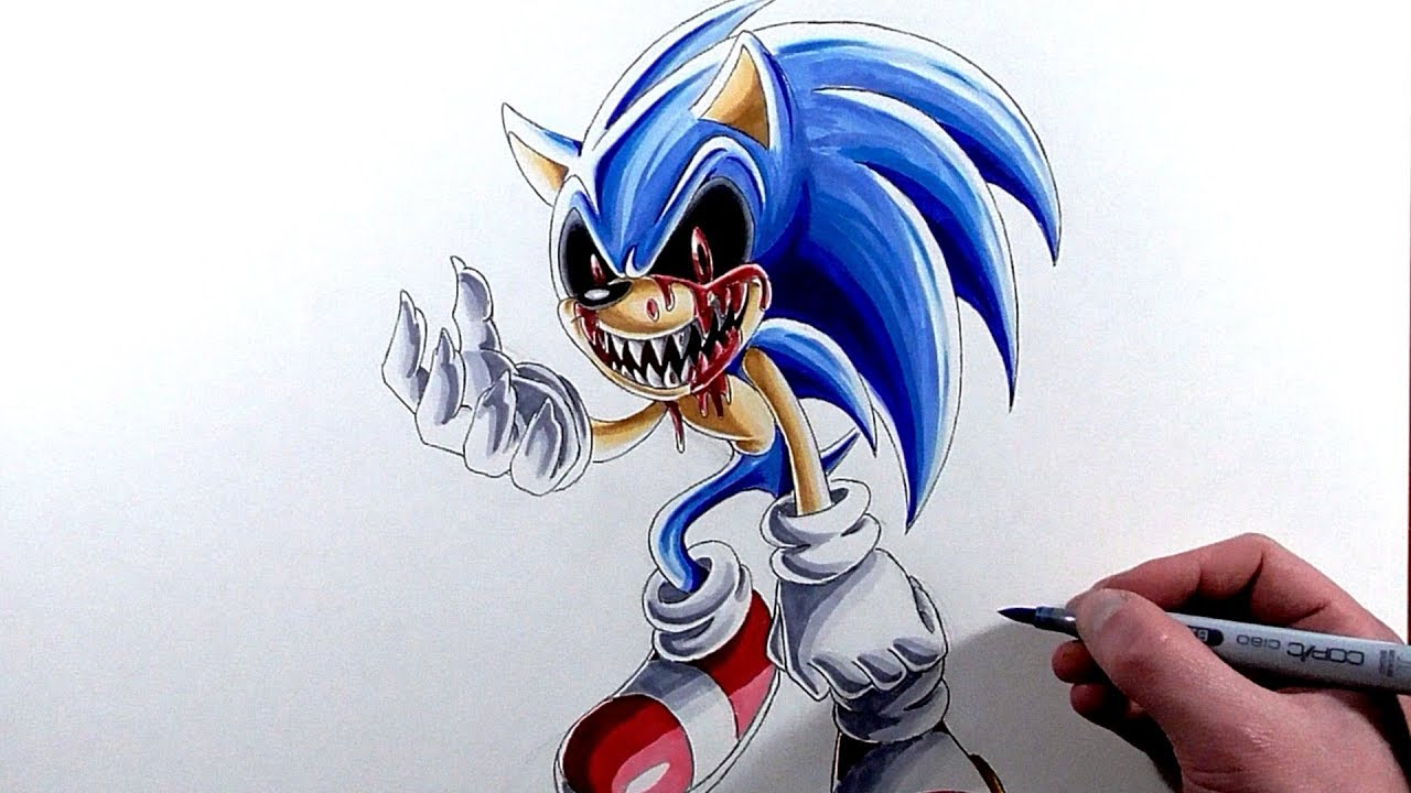 Drawing Sonic. EXE - YouTube
