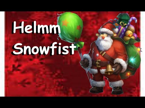 Heroes Of Order And Chaos Rising(HOC) Helmm Snowfist The Toymaster Limited Timed Skin