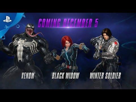 Marvel vs. Capcom: Infinite – Winter Soldier, Black Widow and Venom Gameplay | PS4