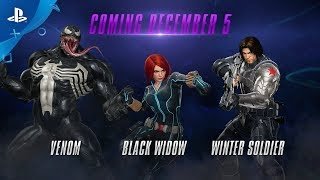 Marvel vs. Capcom: Infinite – Winter Soldier, Black Widow and Venom Gameplay | PS4