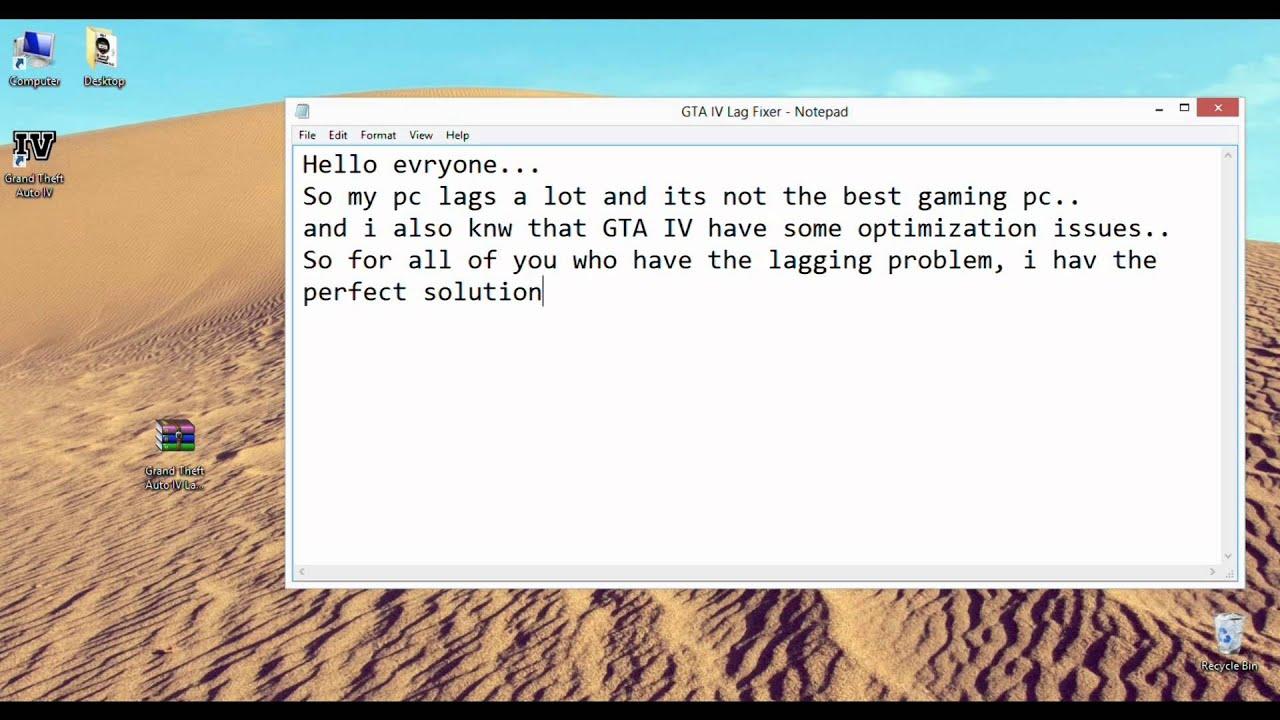 GTA IV Lag Fix (Lag Fixer) - Travel Online