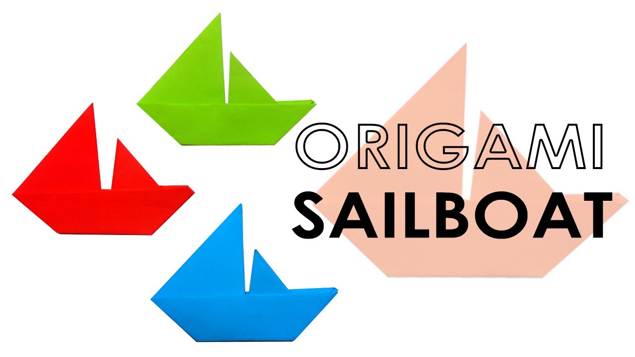 Origami Tutorial Easy Sailboat Folding Instructions Step By