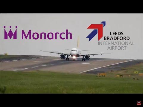 Monorch landing at Leeds Bradford Airport