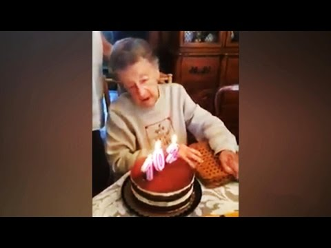Woman 102 celebrates birthday blows out teeth YouTube