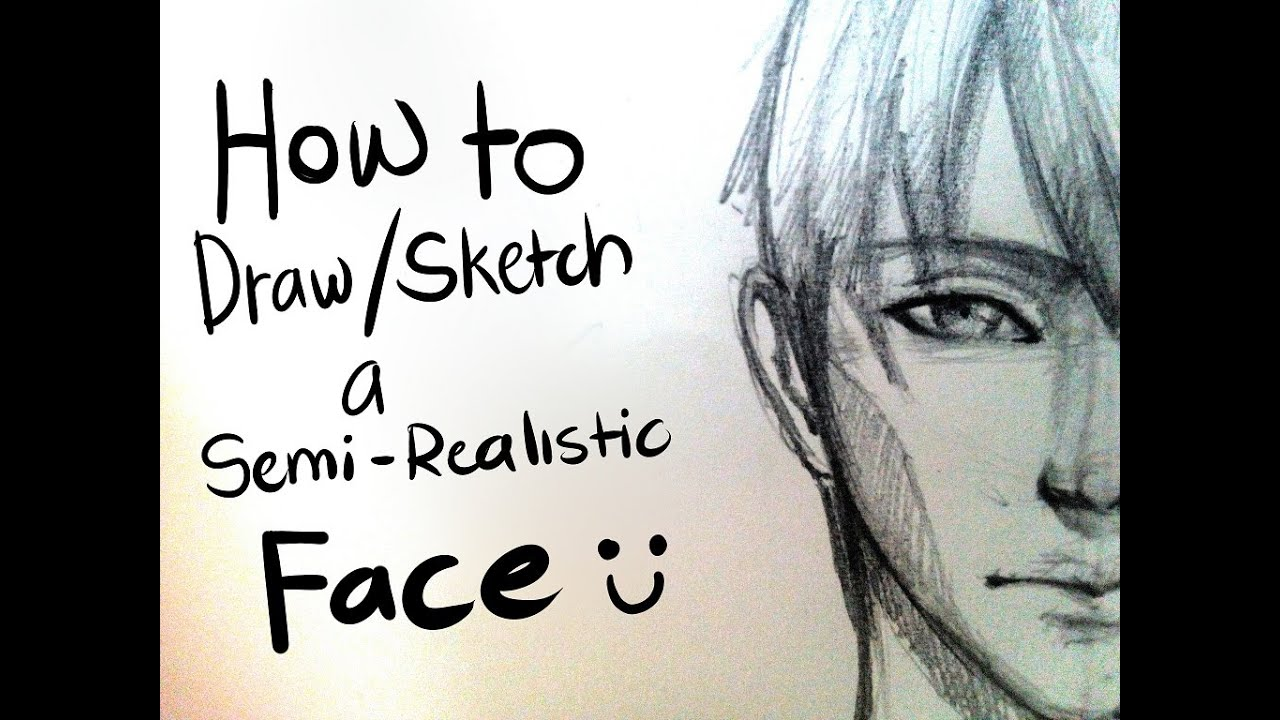 Line Drawing Face : Mms tma how to draw sketch a semi realistic face youtube