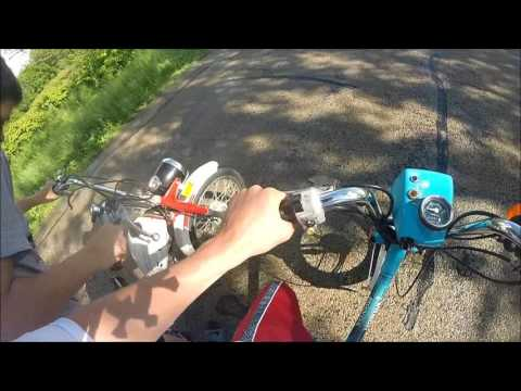 Honda Express Vs. Demm Smily Moped!!!