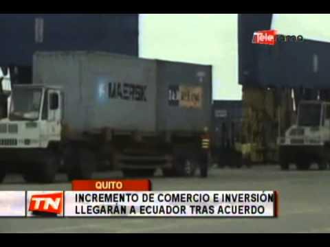 Incremento de comercio e inversión llegarán a Ecuador tras acuerdo