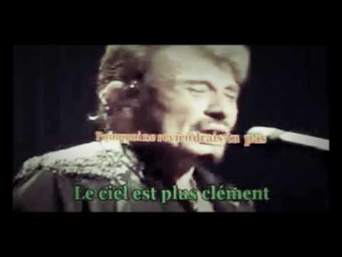 Johnny Hallyday - L'attente - Karaoké - Live