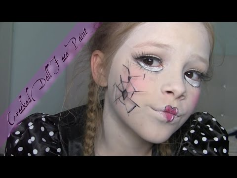 Kids Face Paint: Cracked Doll