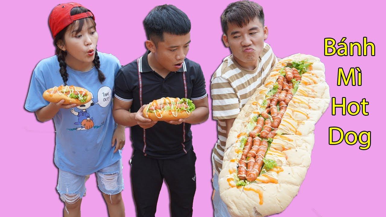 Hưng Troll | Bị Trẻ Trâu Khinh Thường Thách Thức Làm Bánh Mì Hot Dog Khổng Lồ Và Cái Kết