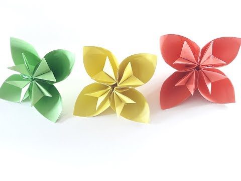How to make a Kusudama Paper Flower  Kusudama Flower Tutorial Easy origami Kusudama for beginners