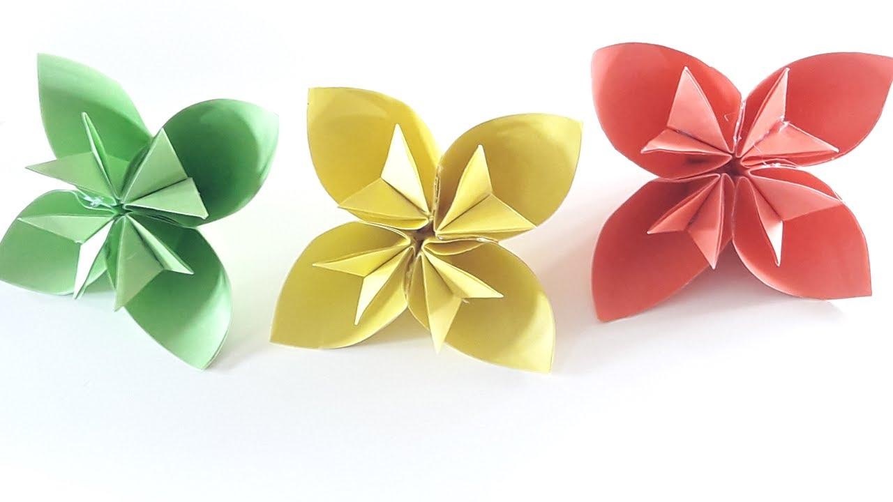 How To Make A Kusudama Paper Flower Kusudama Flower Tutorial Easy