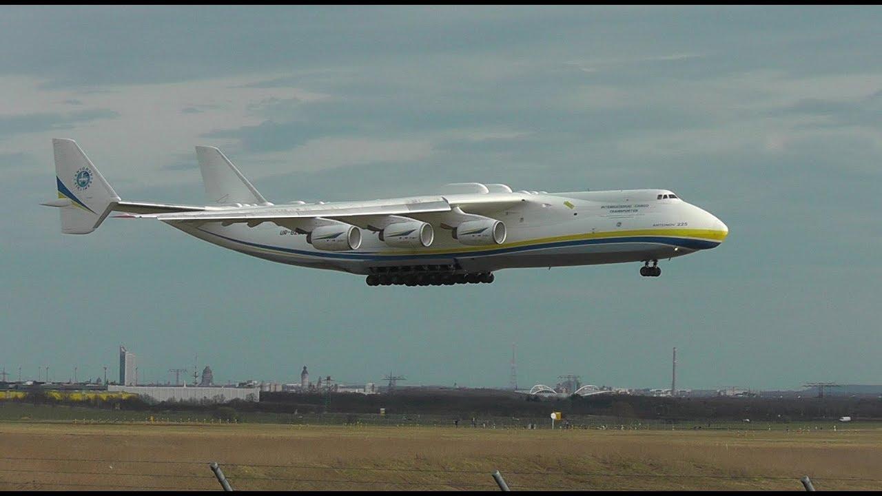 Antonov 225 Landing At Leipzighalle 03042018 Youtube