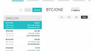 Onecoin exchange xcoinx for more than 30 Cryptocurrencies including FIAT money such as USD & EUR