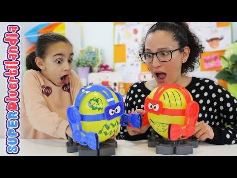 Balloon Bot Battle y 4 en Raya! Andrea y Raquel en SUPERDivertilandia!