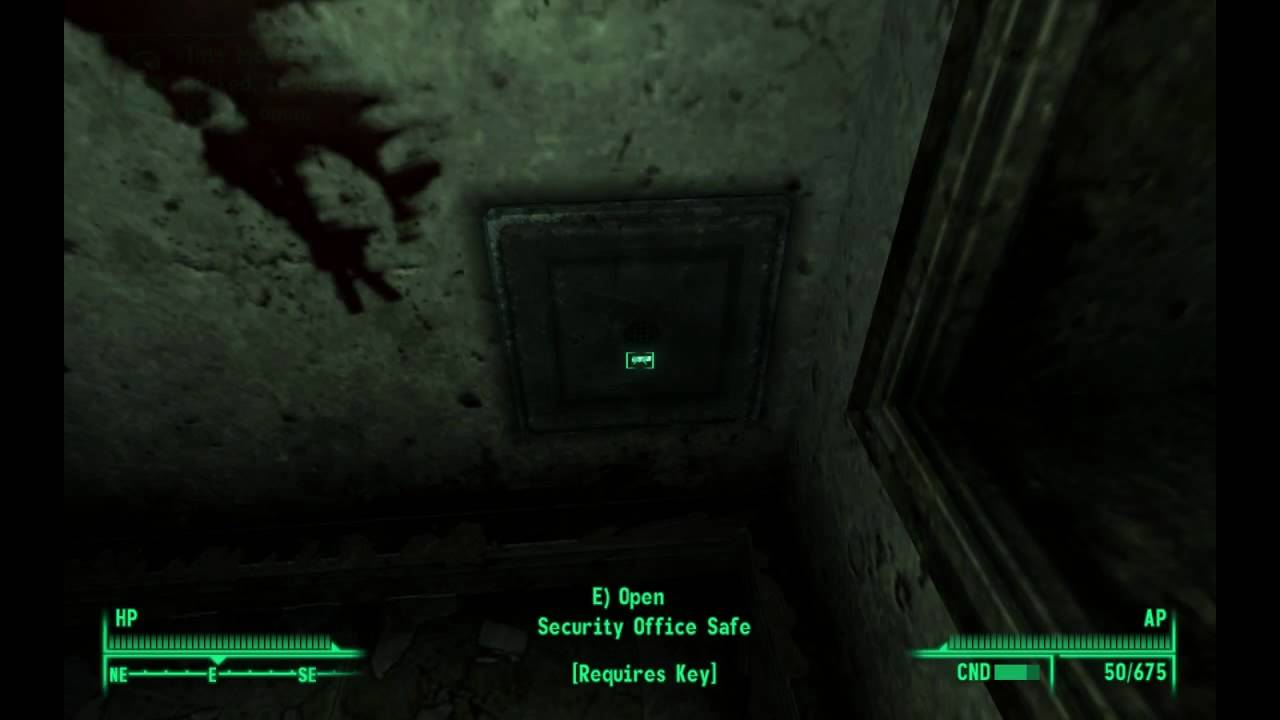 Fallout 3 unlocking safe in Museum of Technology