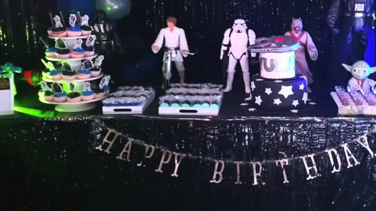 Fiesta star wars decoraci n youtube for Decoracion de cuarto star wars