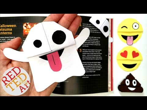 Easy Ghost Emoji Bookmark - Snapchat Ghost DIY - Perfect for Halloween