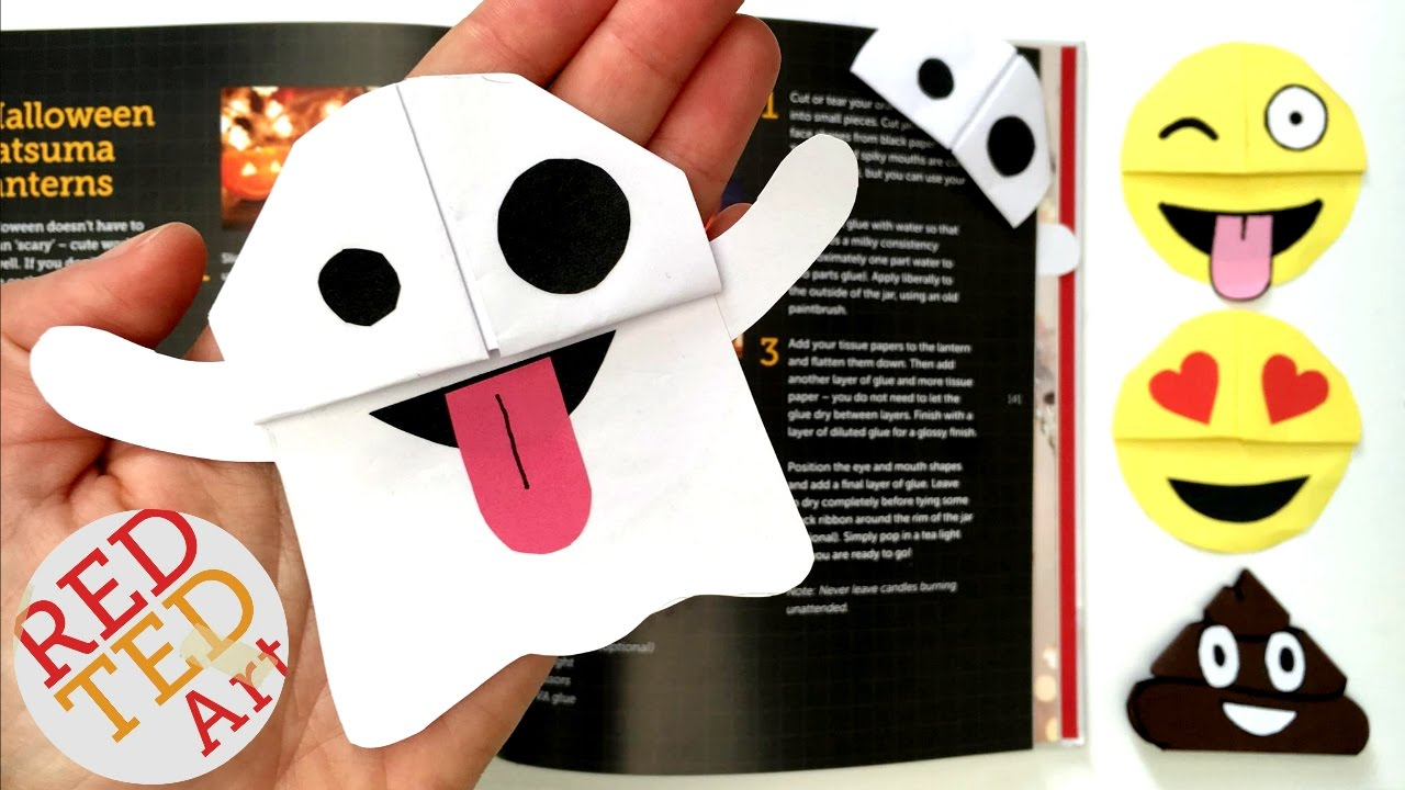easy ghost emoji bookmark snapchat ghost diy perfect for