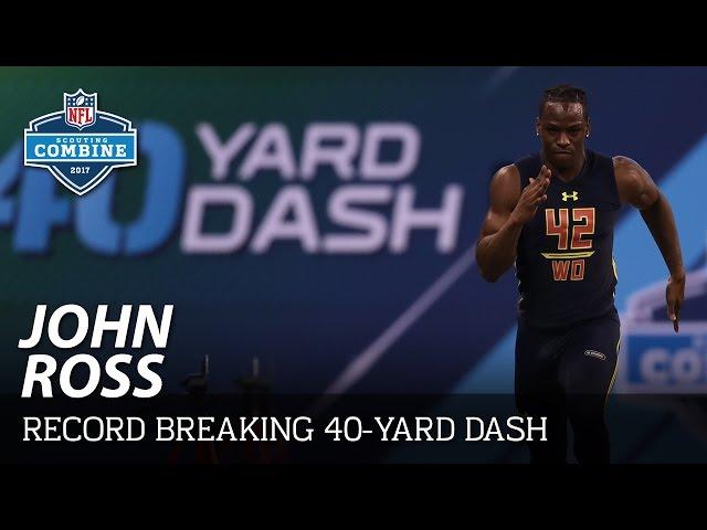 John Ross' Record-Breaking 4.22 40-Yard Dash 🔥🔥🔥 | 2017 NFL Combine Highlights