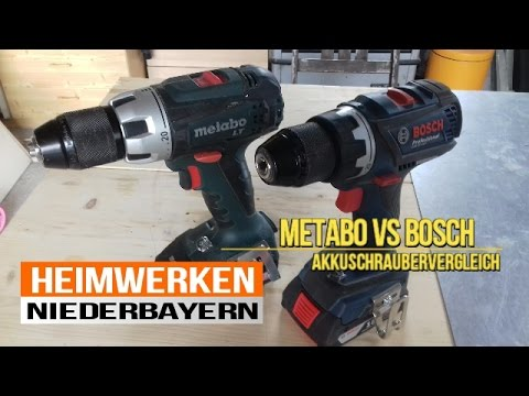 akkuschrauber vergleich 18v metabo vs 18v bosch youtube. Black Bedroom Furniture Sets. Home Design Ideas