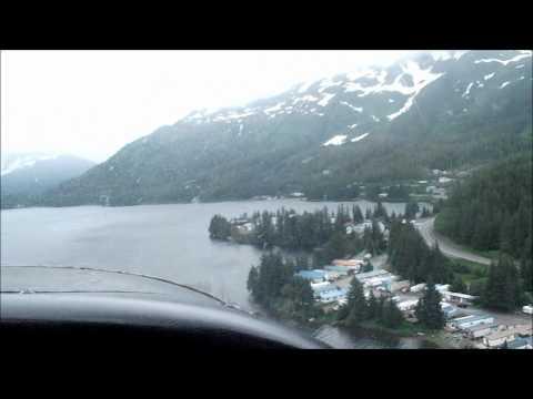 Landing on Eyak Lake in Cordova Alaska