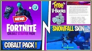 *NEW* Fortnite Update! Free V-Bucks to Test Fortnite, Cobalt Starter Pack, & Snowfall Skin SOON!
