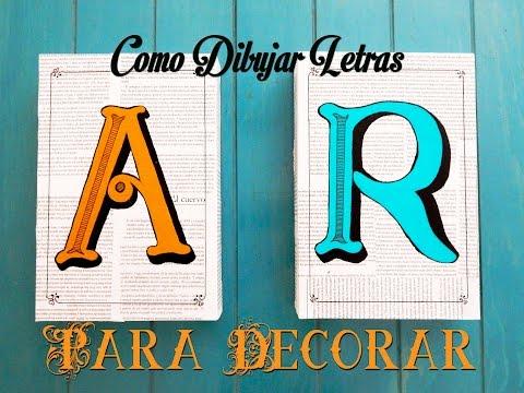 Como Dibujar Letras Para Decorar FACIL Y RAPIDO!!