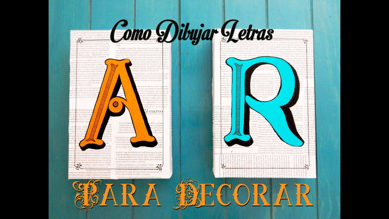 Como dibujar letras para decorar facil y rapido youtube - Letras scrabble para decorar ...