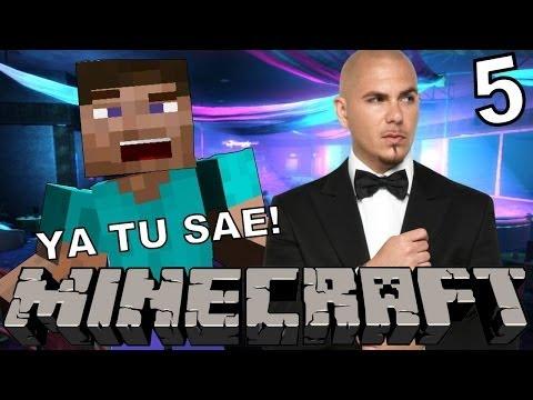 PITBULL JUGANDO MINECRAFT? | Minecraft | Parte 5 - JuegaGerman