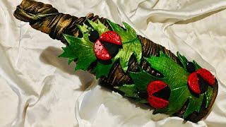 Bottle art with lady bugs/ bottle decoration