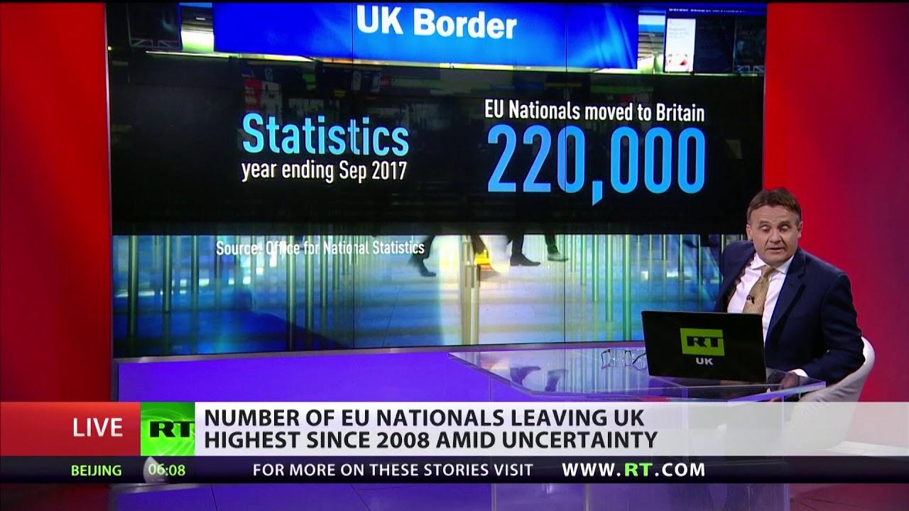 Brexodus: No of EU nationals leaving UK is highest since 2008
