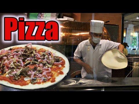 Pizza - Making pizza Dough - Restaurant | italian food [4K]