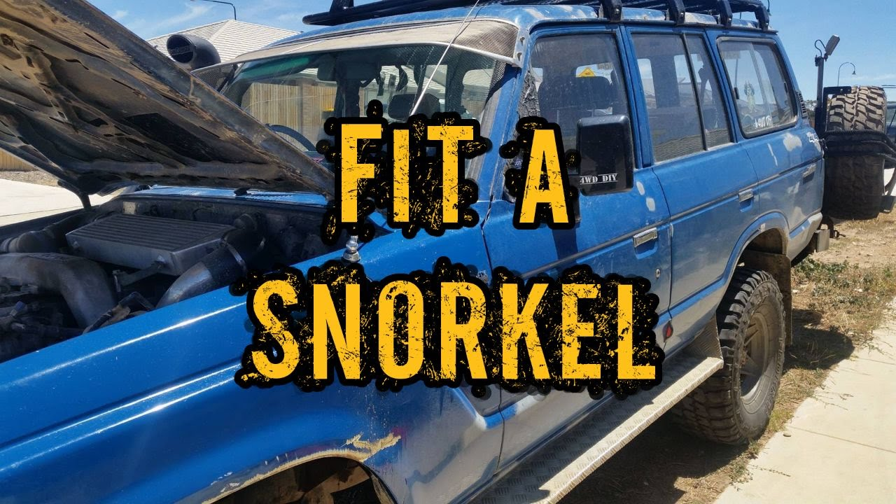 Fit a second Snorkel - Toyota Landcruiser 60 Series