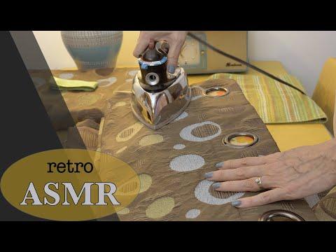 Vintage Steam Iron ASMR * Retro Drapes (No Talking)