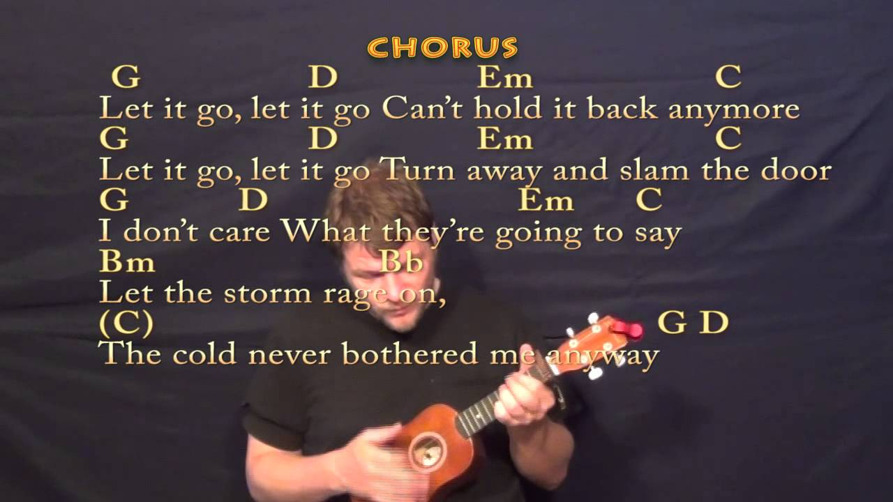 Let it go frozen soprano ukulele cover lesson with chords and let it go frozen soprano ukulele cover lesson with chords and lyrics youtube hexwebz Image collections