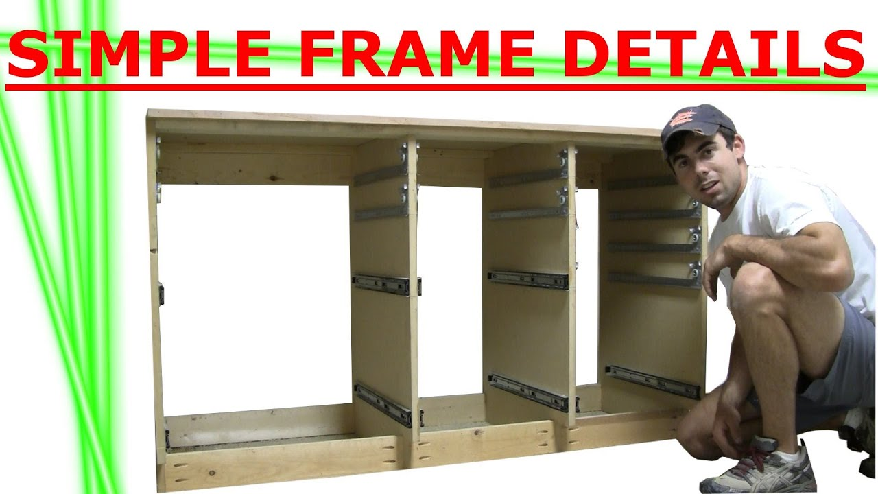 Building Cabinet of Drawers Frame Details  sc 1 st  YouTube & Building Cabinet of Drawers Frame Details - YouTube