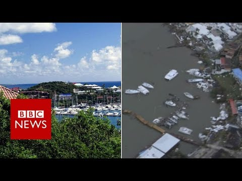 Hurricane Irma: St Martin before and after - BBC News