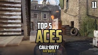CRAZY 5 Second Ace! - COD WWII: TOP 5 ACES OF THE WEEK #11 - Call of Duty World War 2