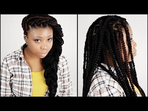 Big Box Braids START TO FINISH In 6 Minutes!!!