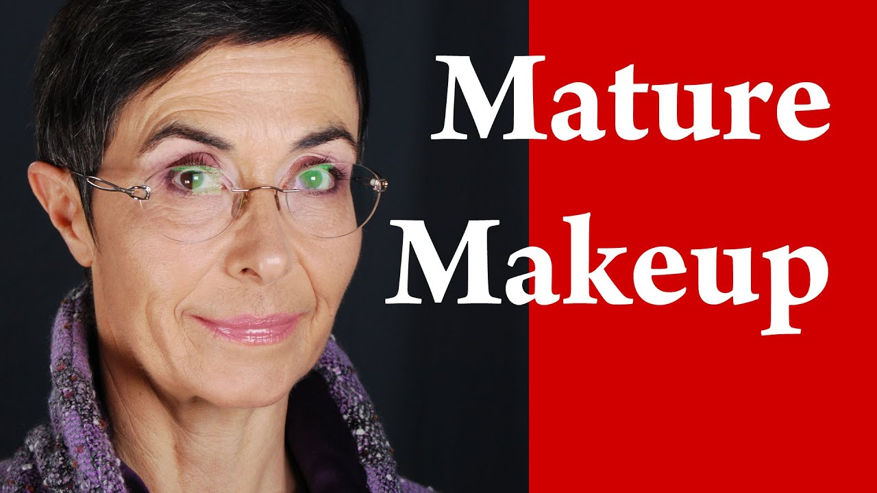 Makeup for Mature Women or Women with Glasses - YouTube