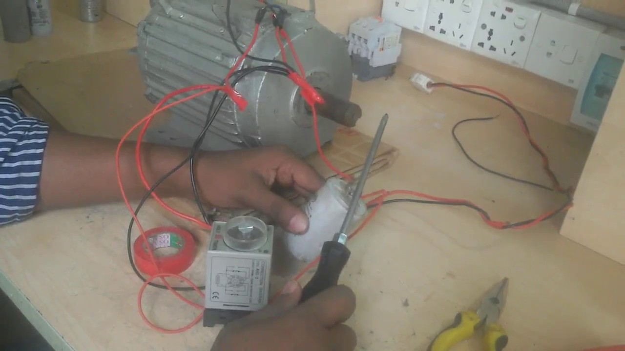 use a timer as centrifugal switch | single phase motor connection without  class switch   - youtube