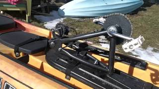 Pedal Driven propeller install on Ocean Kayak Trident Fishing Kayak