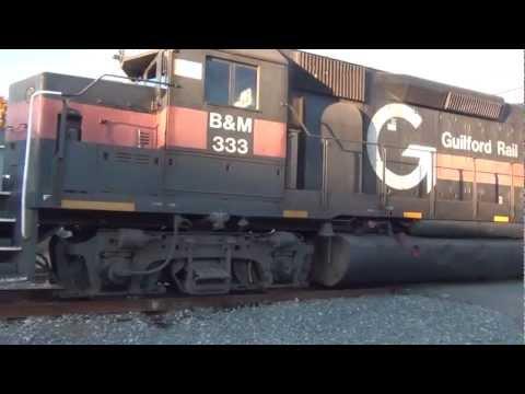 HD Railfanning In Brunswick Maine - Stone Extra #333 Seen Around Town! - 10/22/2012