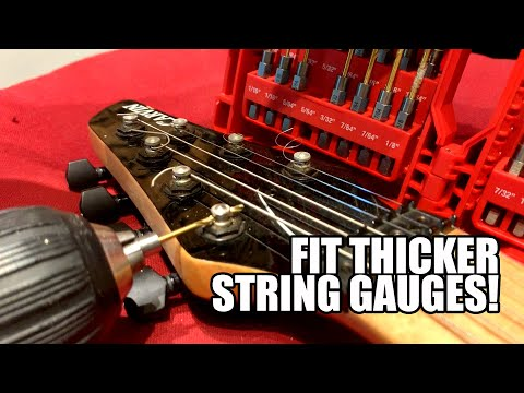 How to Widen Tuning Peg Holes to Fit Thicker String Gauges (without Being Terrified)