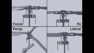Helicopter Main Rotor: Collective / Cyclic - Rotor Principal Helicóptero: Coletivo / Cíclico