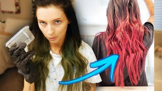 dyeing my hair... again... and a lil ghost story!!