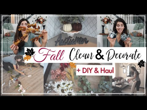 FALL Clean & Decorate + FALL DIY & Target Fall Haul | Fall Cleaning Motivation | Momma From Scratch