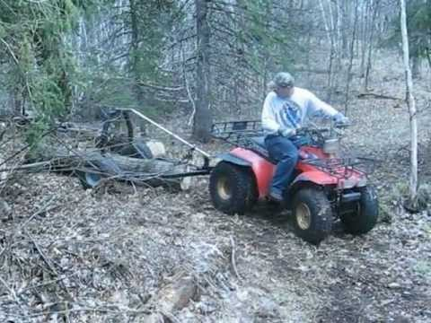 Homemade ATV Log Skidding Arch