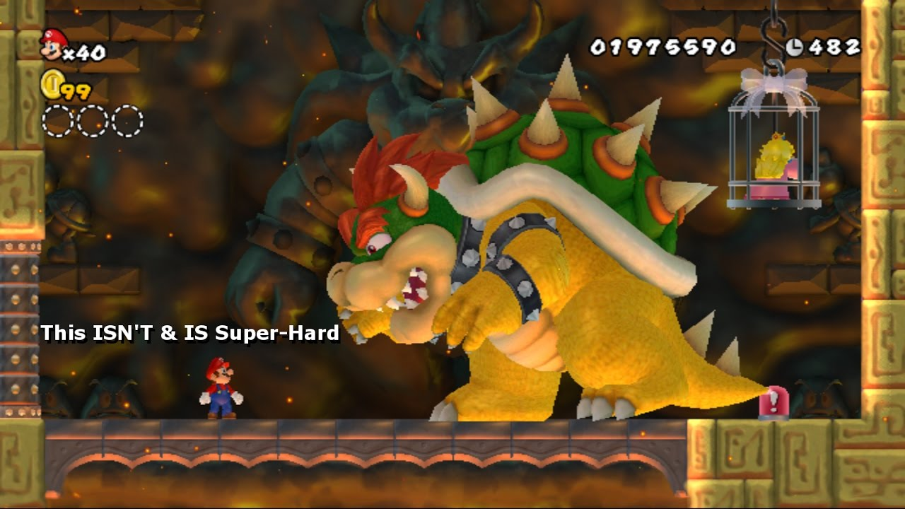fighting a supersized 2x bowser isnt amp is as hard as